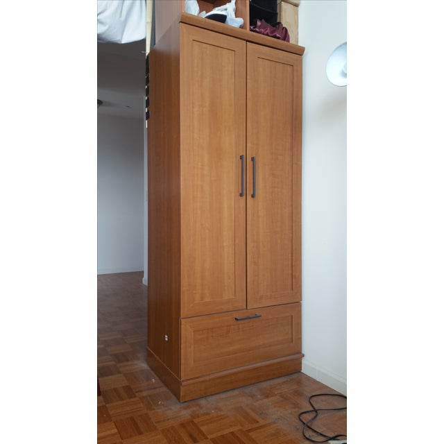 Sienna Oak Finish Wardrobe Armoire - Image 2 of 3