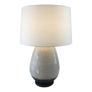Cream and Bronze Glazed Table Lamp