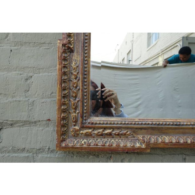 Italian Carved Giltwood Mirror with Bevel - Image 3 of 7