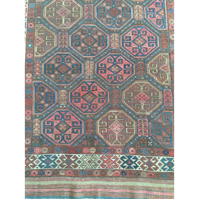 "Antique Tribal Rug 6'10"" X 3'5"" - Image 5 of 8"