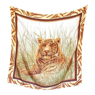 Escada Luminous Lion Silk Scarf