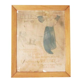 Original Antique Toulouse-Lautrec Poster, 1896