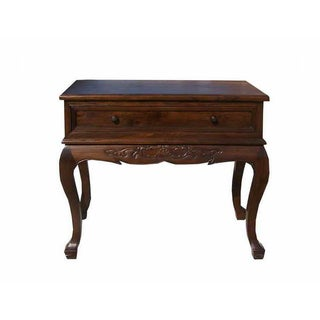 Oriental Shanghai Style Elm Wood Side Table