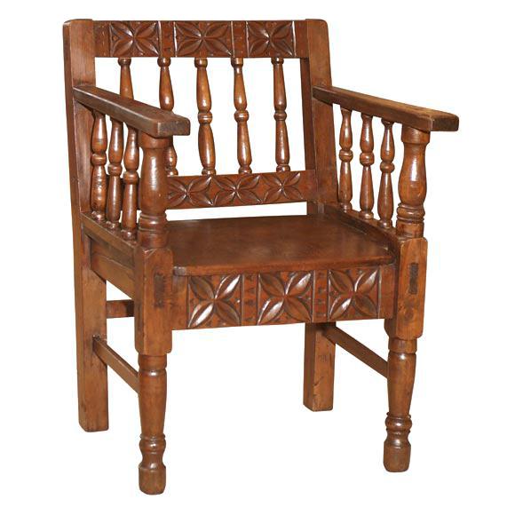 1860u0027s Spanish Colonial Armchair