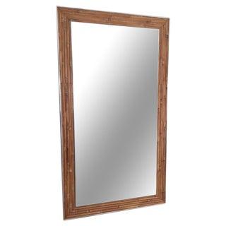 Aluminum & Split Reed Mirror