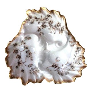 Antique French Porcelain Oyster Plate