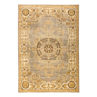 """Hand Knotted Medallion Area Rug - 6'3"""" X 8'10"""""""