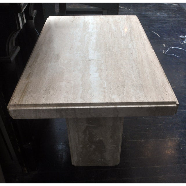 Travertine Coffee Table - Image 4 of 6