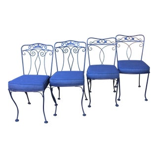 Wrought Iron Dining Chairs - set of Four