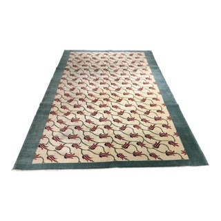 "Bellwether Rugs Vintage Zeki Muren Turkish Rug- 6'4"" X 9'5"""
