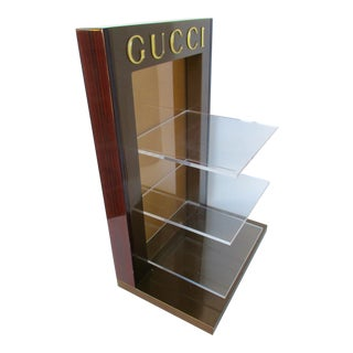 Gucci Logo Display Stand Lucite Acrylic Shelf Set