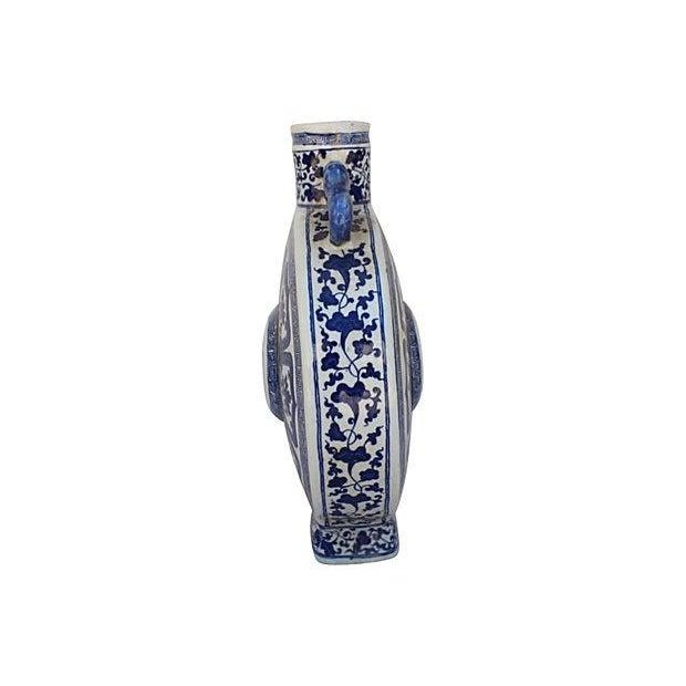 Blue & White Porcelain Asian Vase - Image 2 of 7