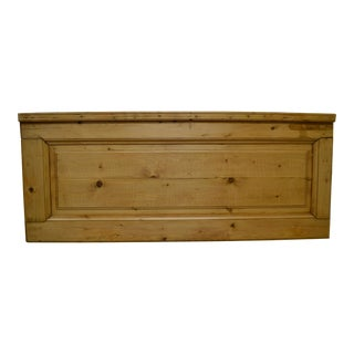 Pine Queen Size Headboard from Nineteenth Century Interior Door