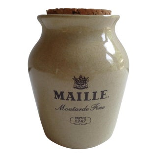 Vintage French Maille Mustard Jar