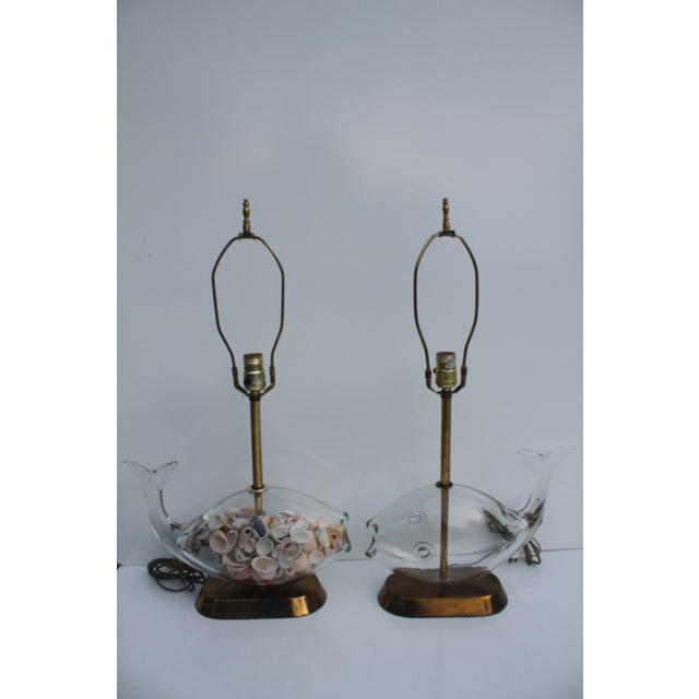 Blencko Art Glass Fish Table Lamps - A Pair - Image 3 of 11