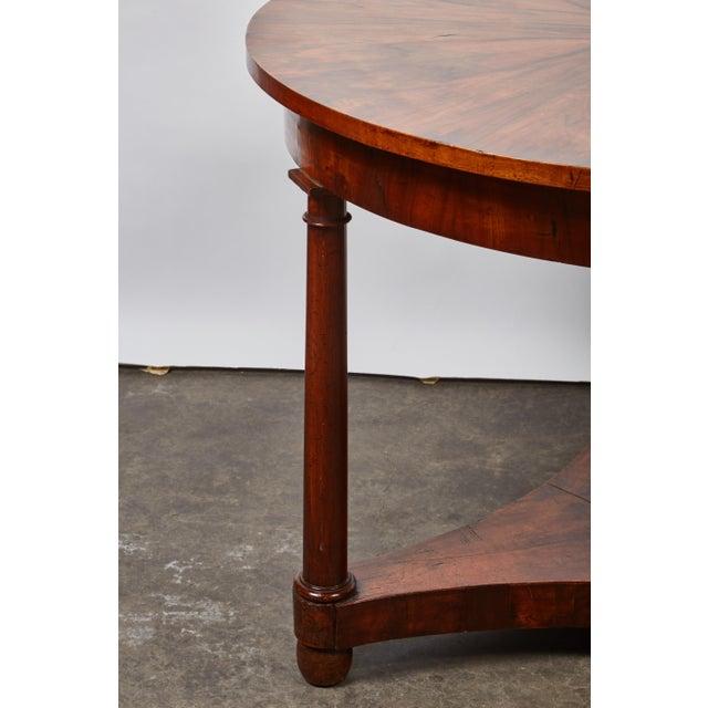 Italian Empire Deep Brown Walnut Center Table - Image 2 of 9