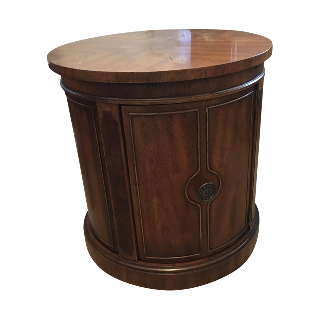 Round Drexel Table With Storage - Image 1 of 9