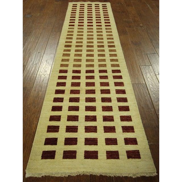 Ivory Checkered Kashkuli Gabbeh Runner - 3'x10' - Image 3 of 9