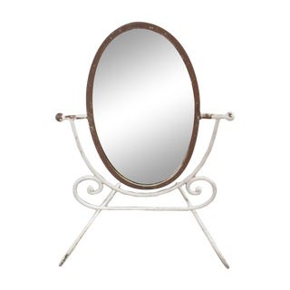 French Country Wrought Iron Vanity Mirror