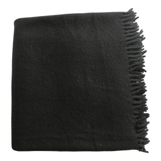 Zambaiti Lambswool & Cashmere Black Square Throw