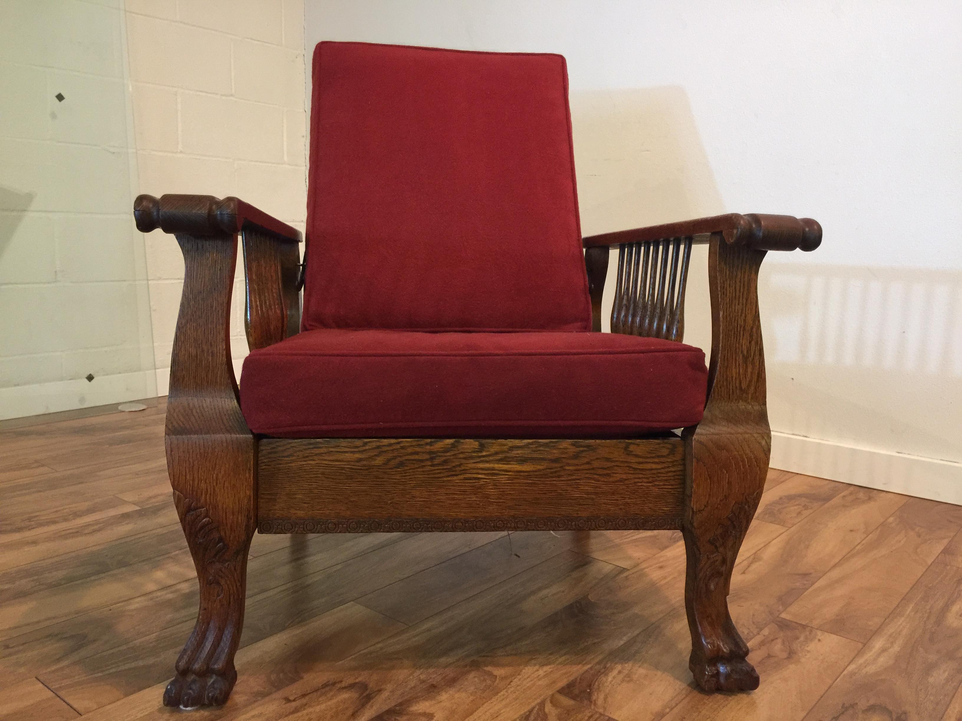 Antique Tiger Oak Morris Reclining Chair - Image 9 of 11  sc 1 st  Chairish & Antique Tiger Oak Morris Reclining Chair | Chairish islam-shia.org