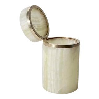 Cylindrical Carved Onyx Trinket Box