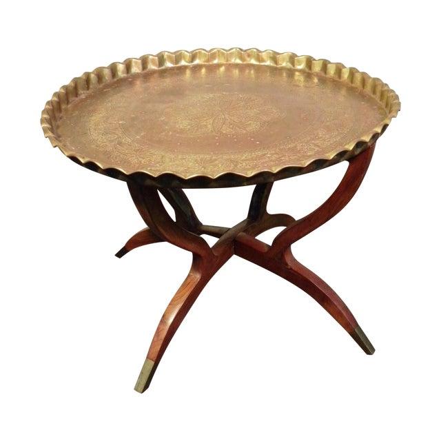 Mid Century Modern Moroccan Folding Tea Table - Image 1 of 8