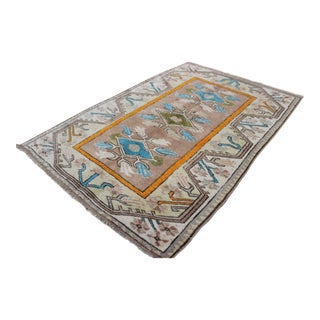 Vintage Turkish Van Rug - 2′10″ × 4′1″