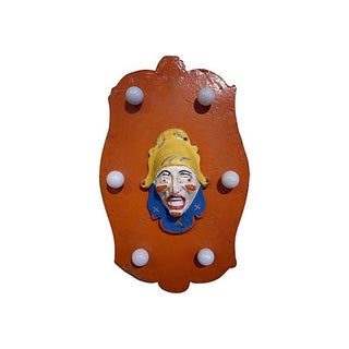Lighted Carousel Panel With Clown Face
