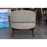 Image of Speckled Upholstered Continental Club Chair