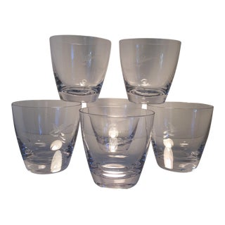 Set of 6 - 1959 Ford Thunderbird Dealer Lo-ball Glasses