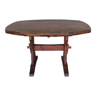 Hunt Country Furniture Rough Cut Pine Trestle Table