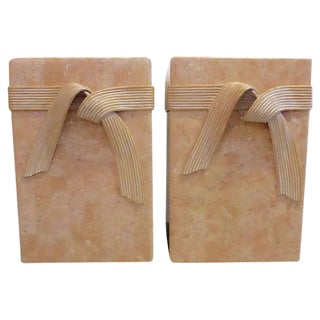 Mid-Century Tessellated Stone Side Tables - Pair