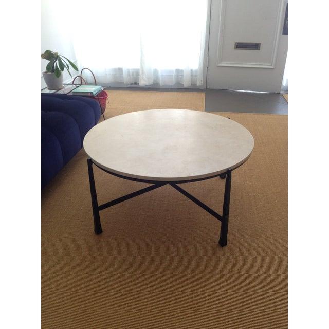 Duncan Storage Coffee Table: Bernhardt Duncan Round Metal Cocktail Table