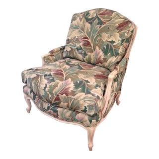 Louis XV Bergère Tropical Botanical Print Palm Club Chair