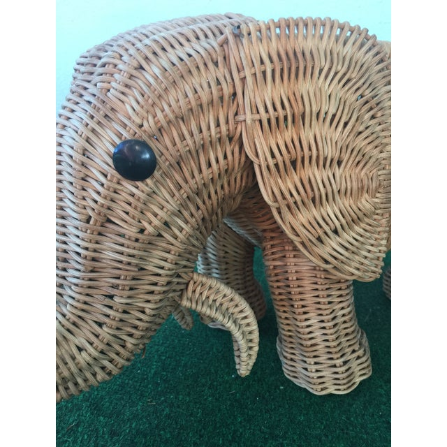 Wicker Elephant Planter - Image 6 of 9