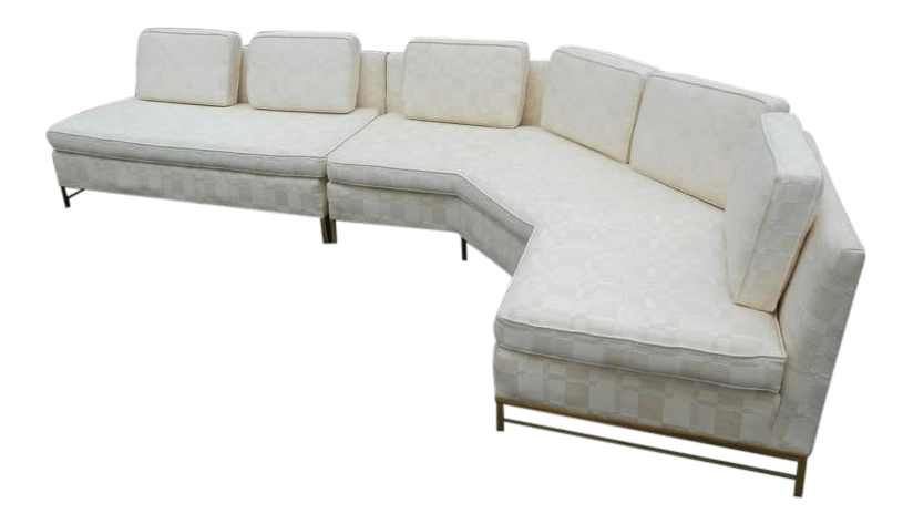 impressive twopiece midcentury modern sofa by paul mccobb for directional