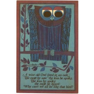 Mid-Century Retro Fabric Owl