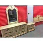 Image of Vintage Stanley Solid Wood Dresser with Mirror