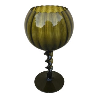 Mid-Century Glass Vessel/Candle Holder