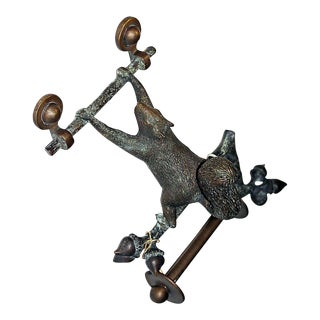 Bronze Squirrel Paper Holder