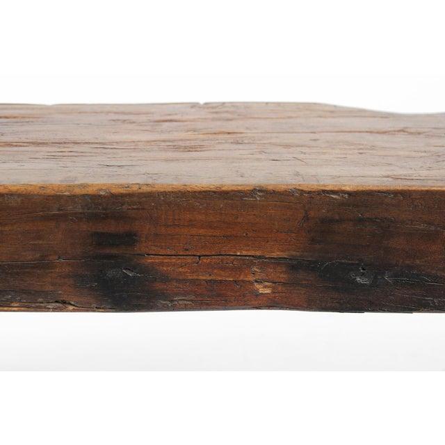 Old Teak Slab Bench - Image 5 of 5