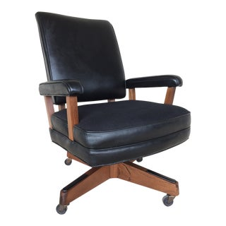 Vintage Hon Furniture Mid-Century Modern Faux Leather Desk Chair
