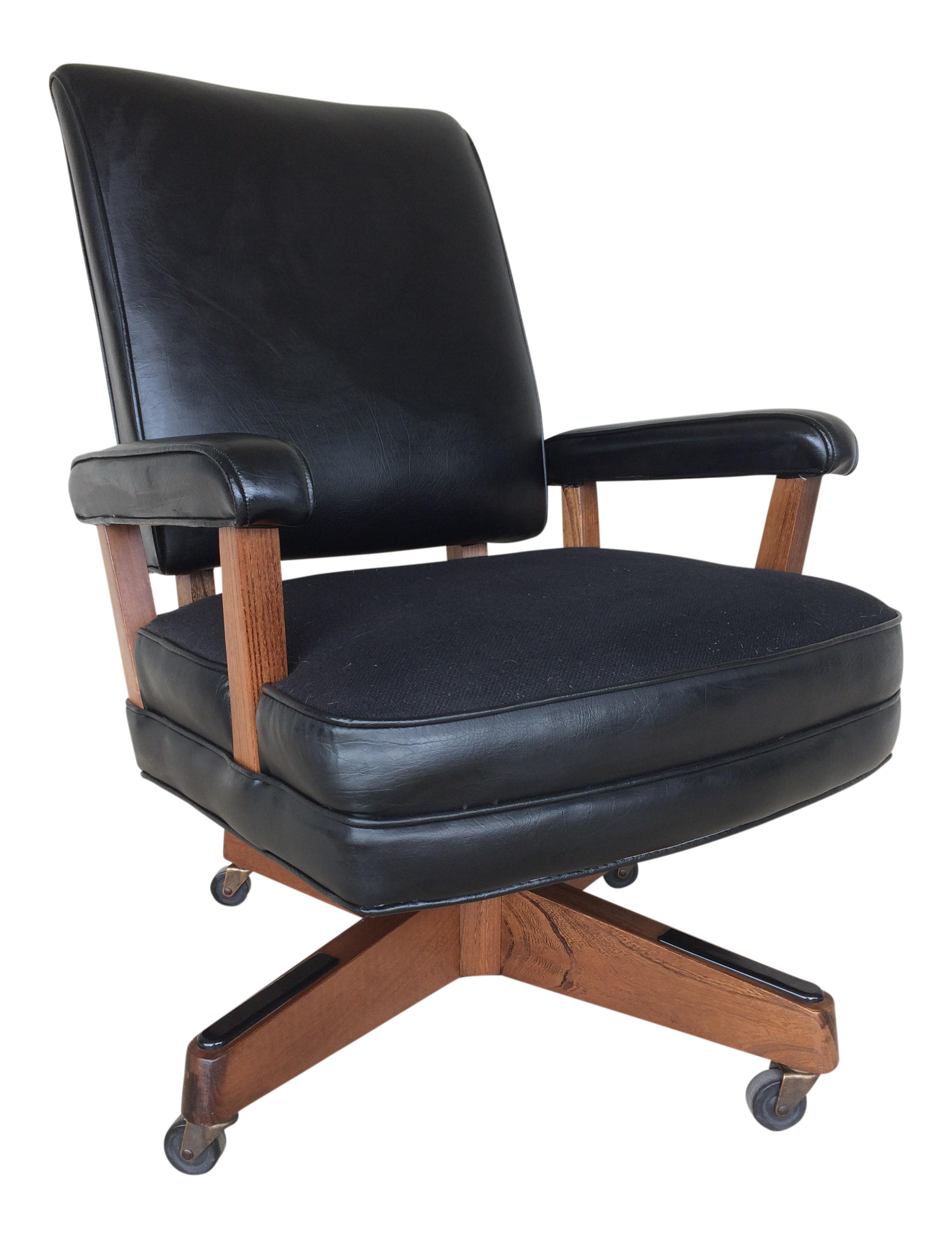 vintage hon furniture midcentury modern faux leather desk chair
