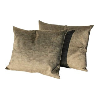 Amazing Khaki Green Vintage Silk Velvet Pillows
