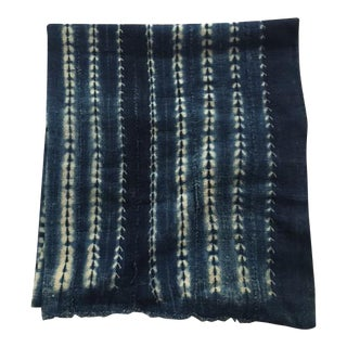 Vintage African Mud Cloth Indigo Throw