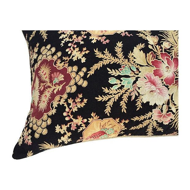 French Victorian Floral Pillows - A Pair - Image 5 of 6