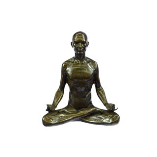 Yoga Sport Edition Bronze Sculpture on Marble Base Figurine
