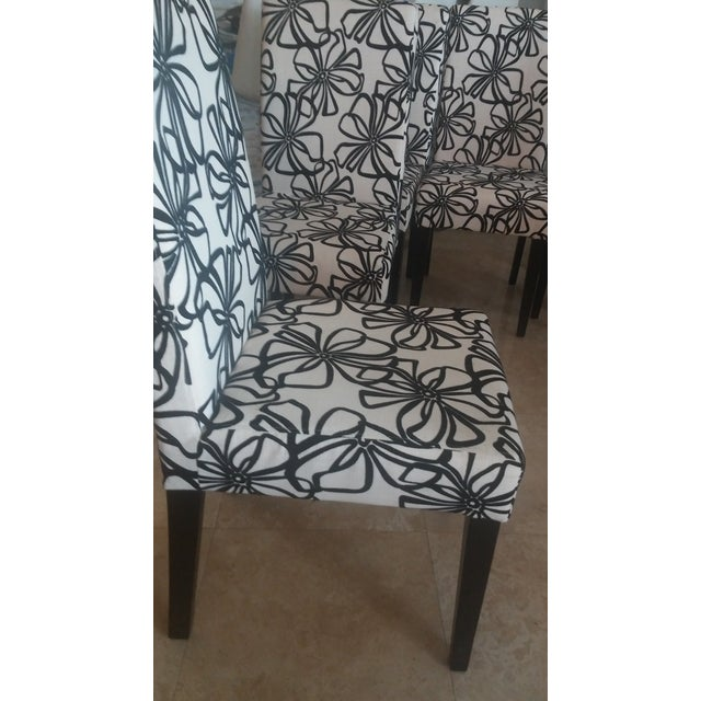 Black & White Parsons Dining Chairs - Set of 6 - Image 7 of 7