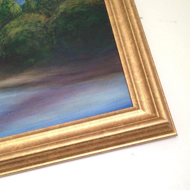 Original Mountain & Stream Landscape Oil Painting - Image 2 of 2